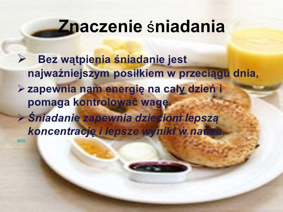Znaczenie śniadania Bez wątpienia śniadanie jest najważniejszym posiłkiem w przeciągu dnia,