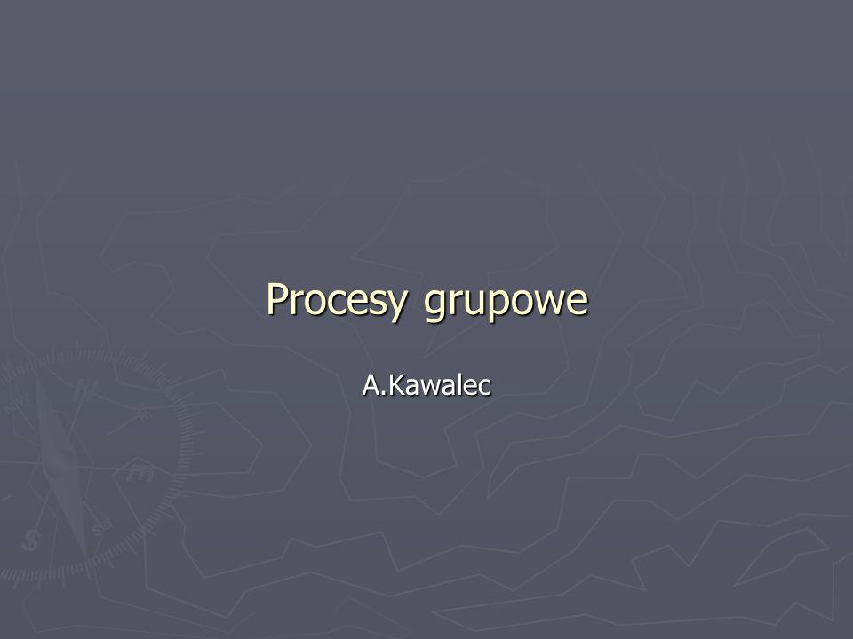 Procesy grupowe A.Kawalec