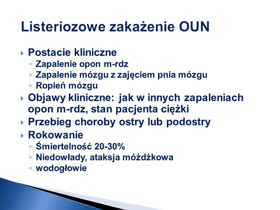 Listeriozowe zakażenie OUN