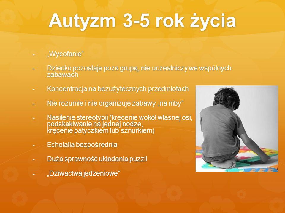 """Autyzm 3-5 rok życia """"Wycofanie"""