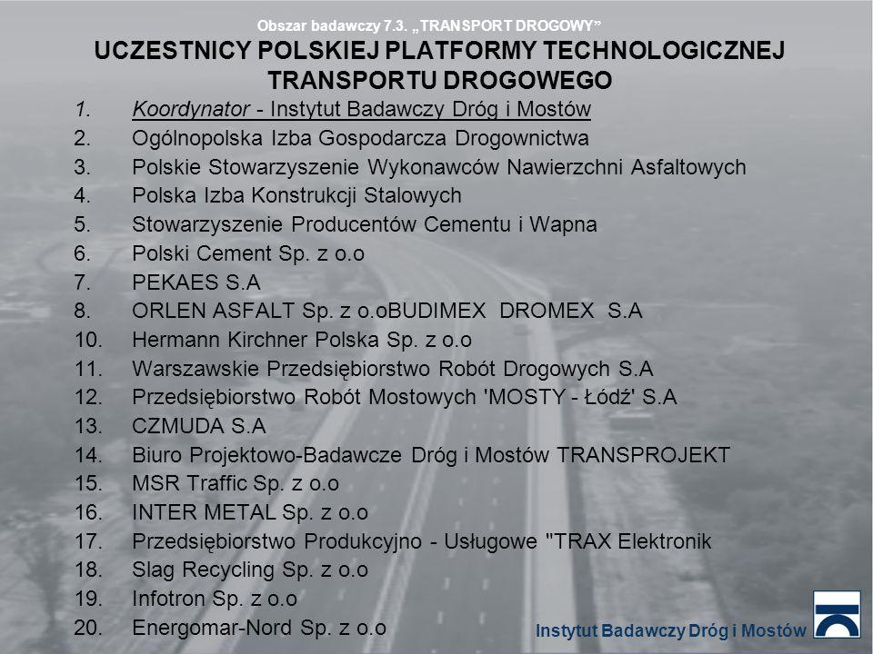 UCZESTNICY POLSKIEJ PLATFORMY TECHNOLOGICZNEJ TRANSPORTU DROGOWEGO