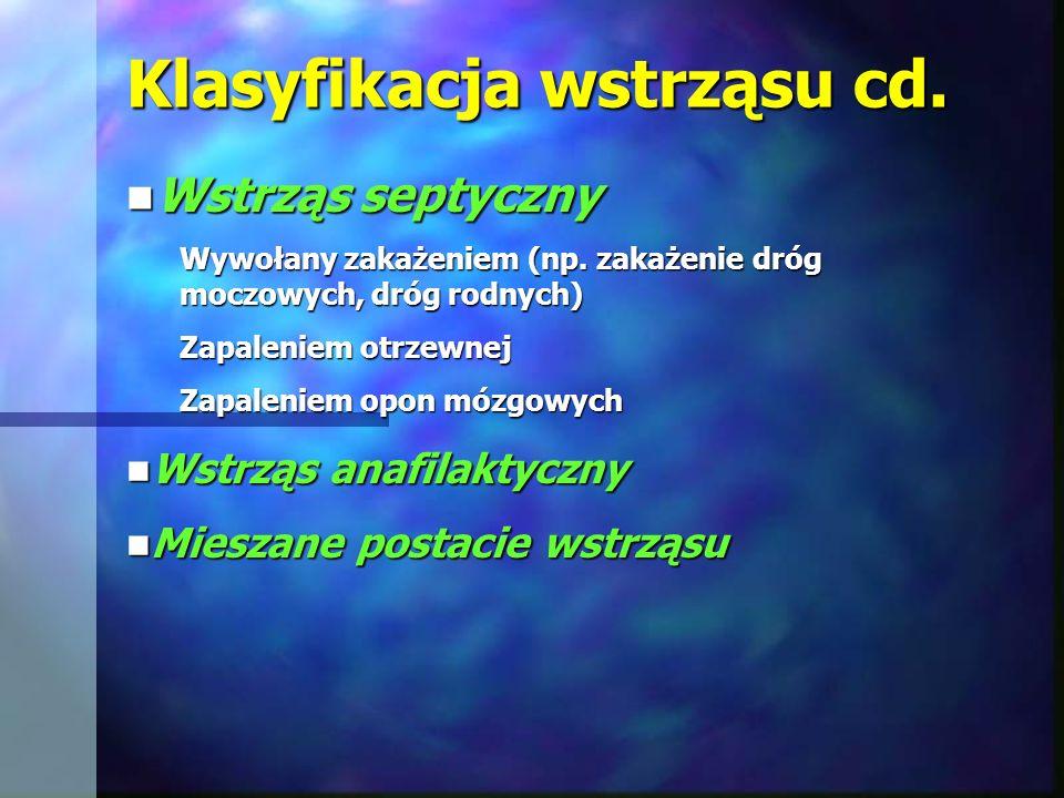 Klasyfikacja wstrząsu cd.