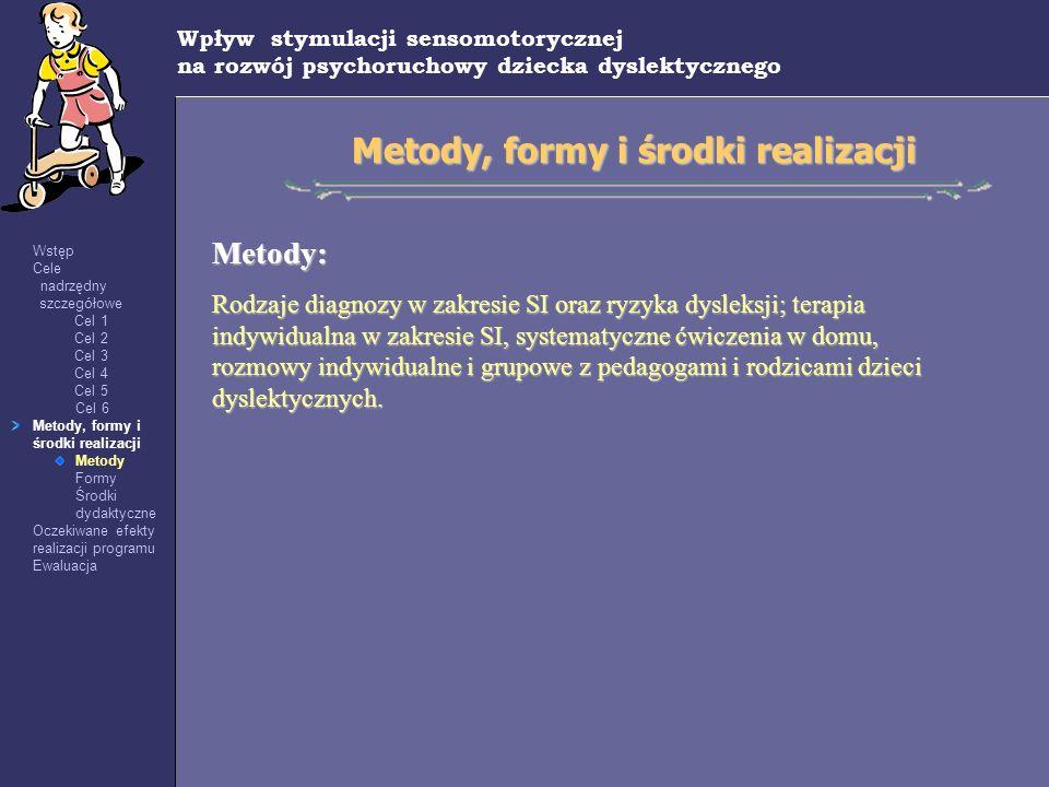 Metody, formy i środki realizacji