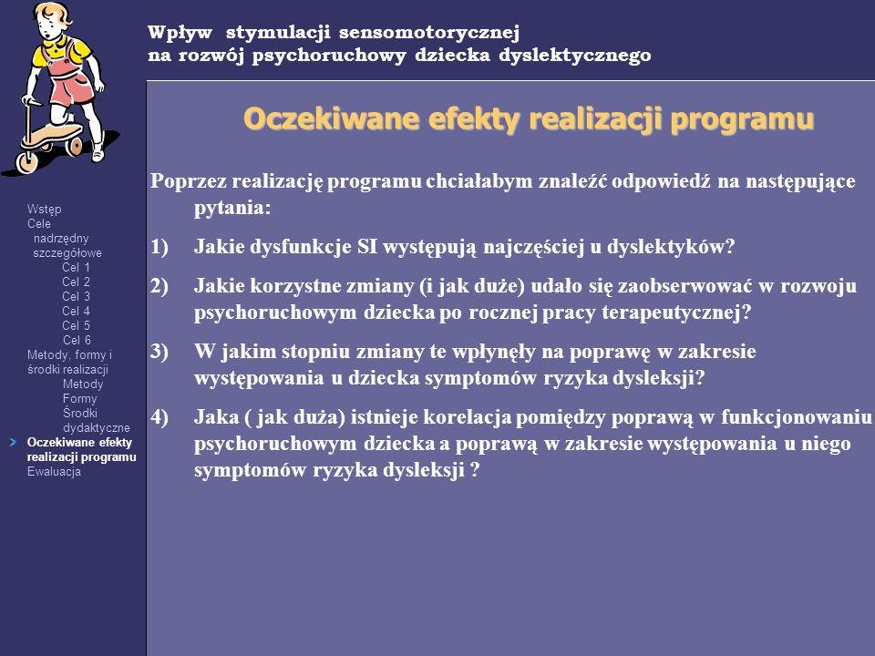 Oczekiwane efekty realizacji programu