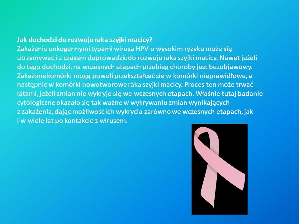 Jak dochodzi do rozwoju raka szyjki macicy