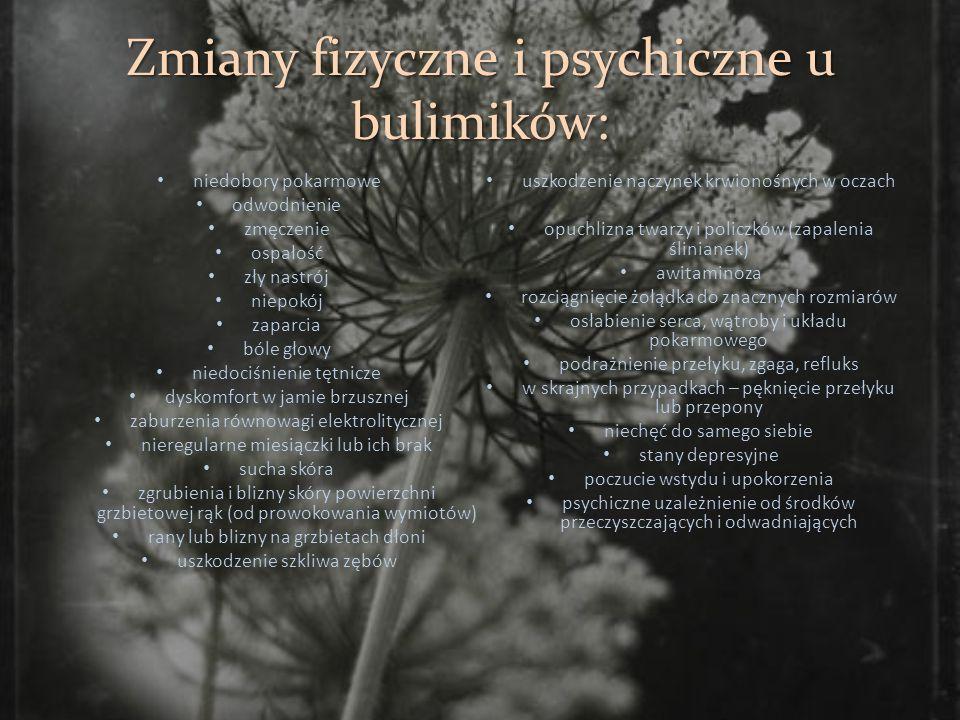 Zmiany fizyczne i psychiczne u bulimików: