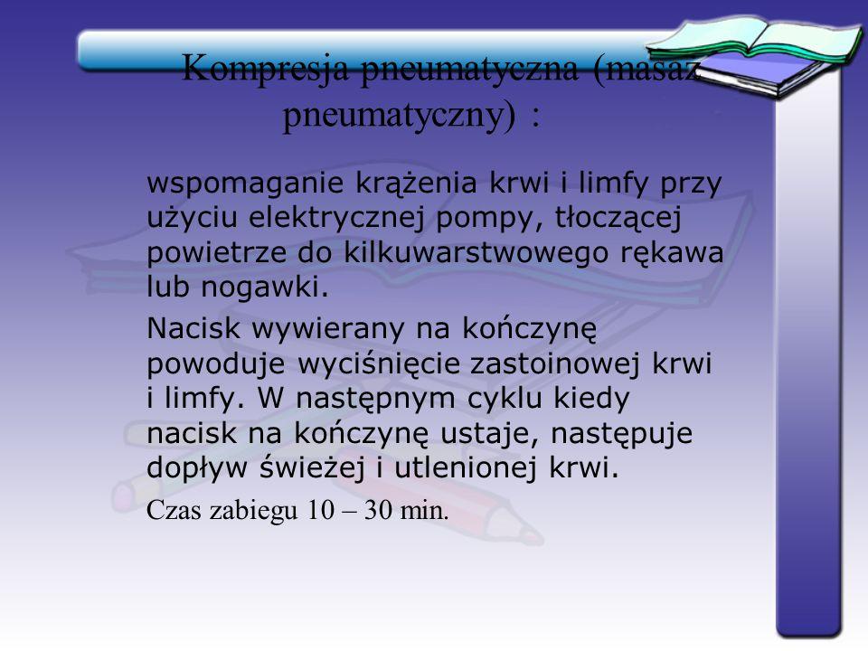 Kompresja pneumatyczna (masaż pneumatyczny) :