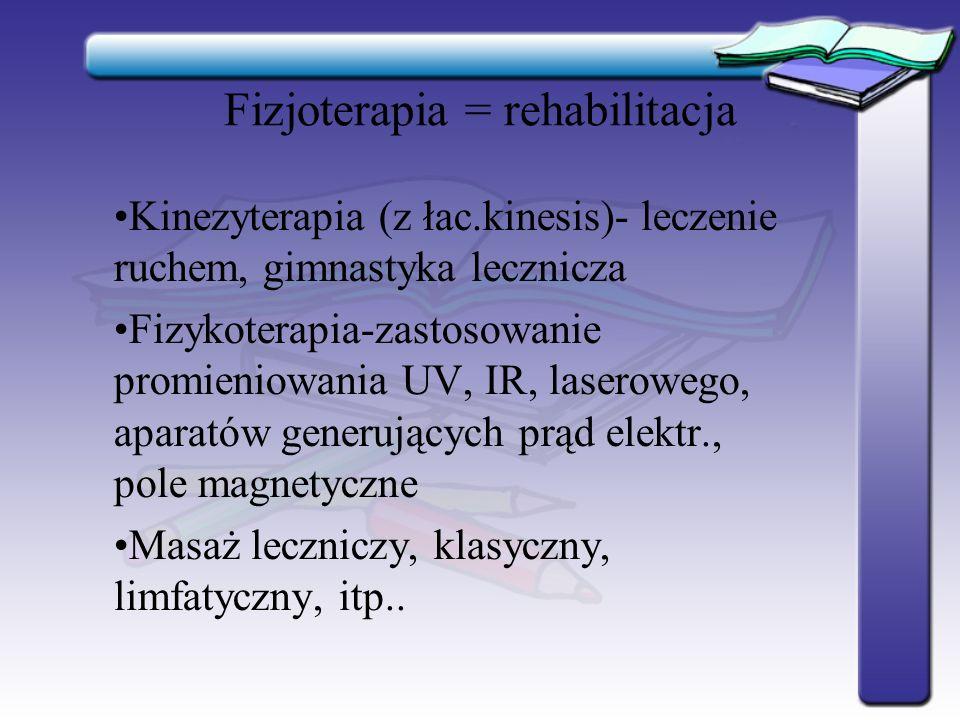 Fizjoterapia = rehabilitacja