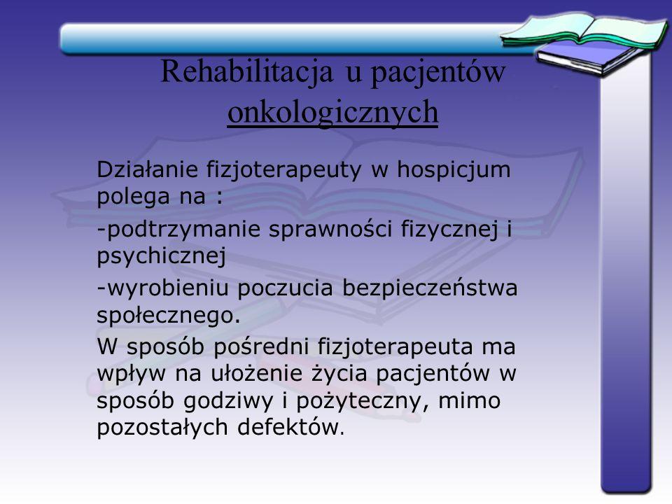 Rehabilitacja u pacjentów onkologicznych