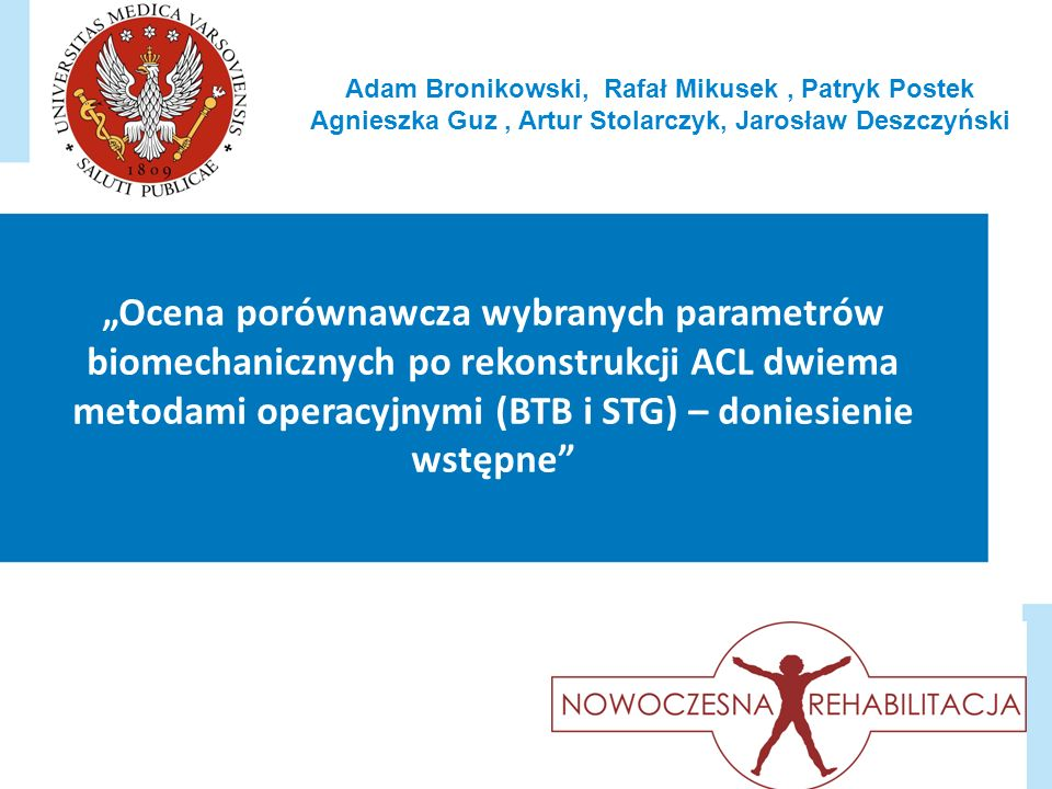 Adam Bronikowski, Rafał Mikusek , Patryk Postek Agnieszka Guz , Artur Stolarczyk, Jarosław Deszczyński