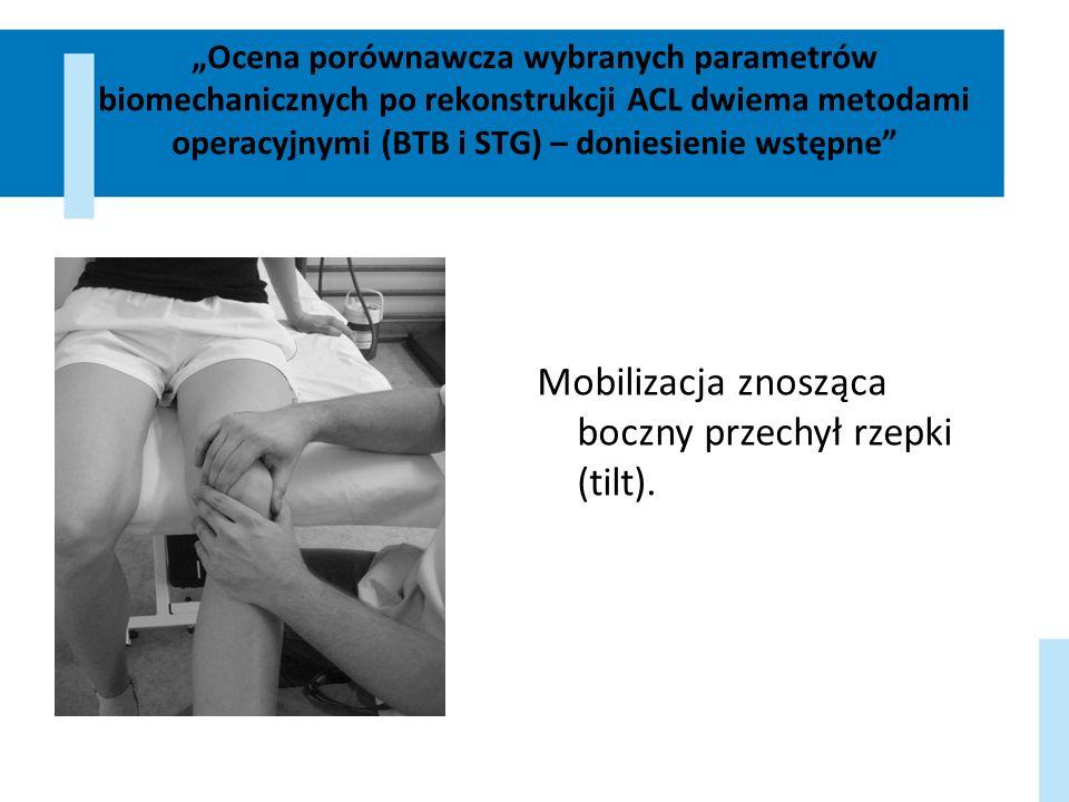 Mobilizacja znosząca boczny przechył rzepki (tilt).