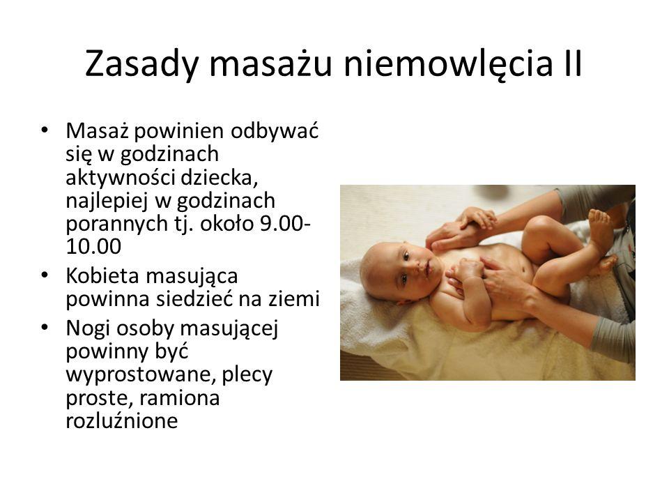Zasady masażu niemowlęcia II