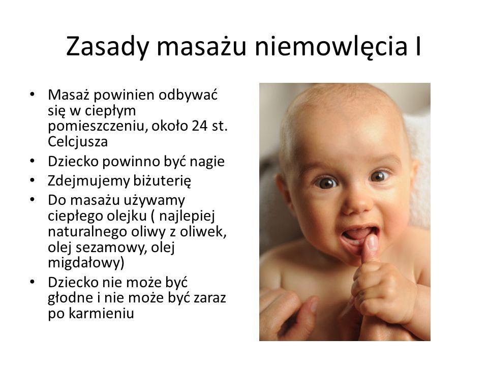 Zasady masażu niemowlęcia I