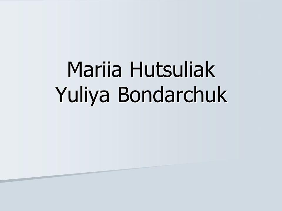Mariia Hutsuliak Yuliya Bondarchuk