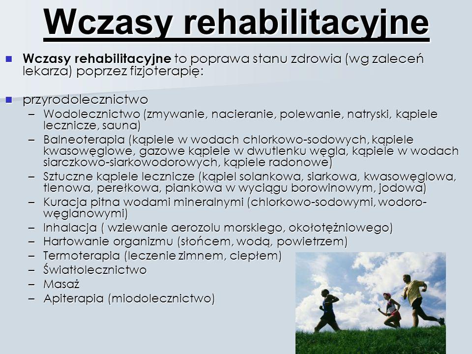 Wczasy rehabilitacyjne