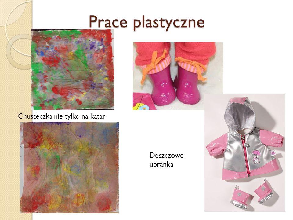 Prace plastyczne Chusteczka nie tylko na katar Deszczowe ubranka