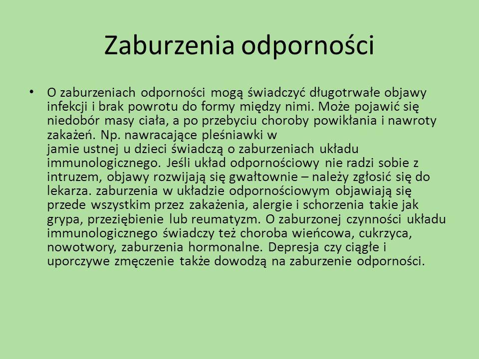 Zaburzenia odporności