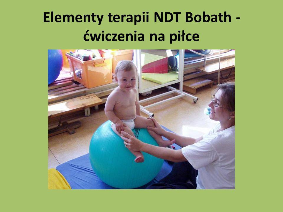 Elementy terapii NDT Bobath - ćwiczenia na piłce