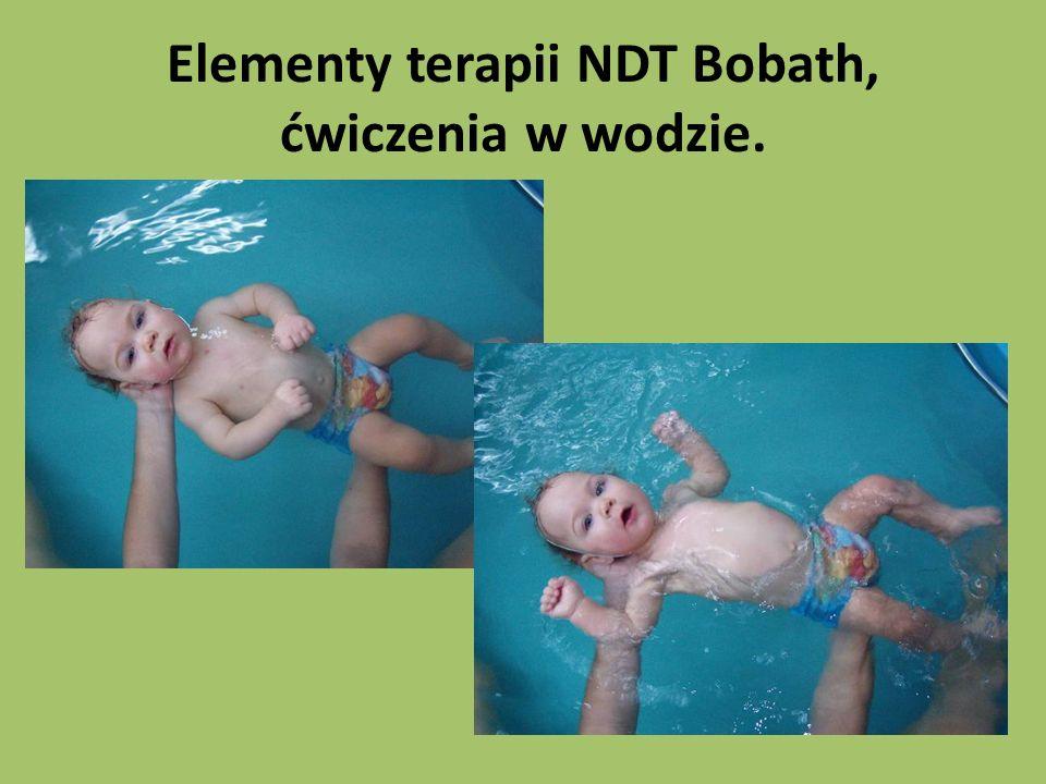 Elementy terapii NDT Bobath, ćwiczenia w wodzie.