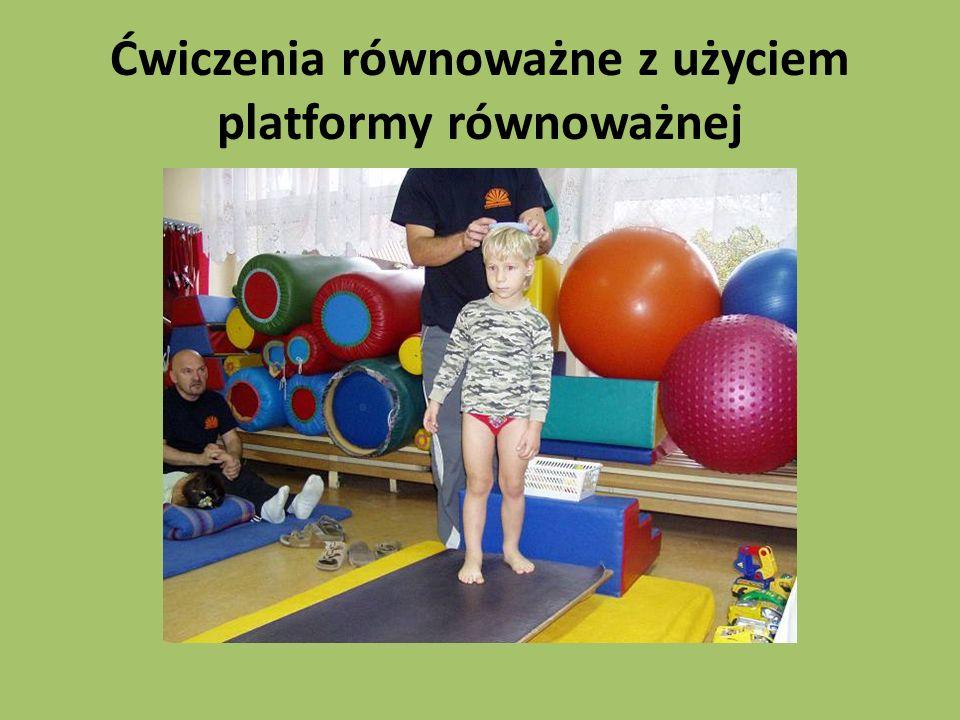 Ćwiczenia równoważne z użyciem platformy równoważnej