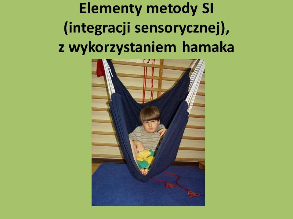 Elementy metody SI (integracji sensorycznej), z wykorzystaniem hamaka