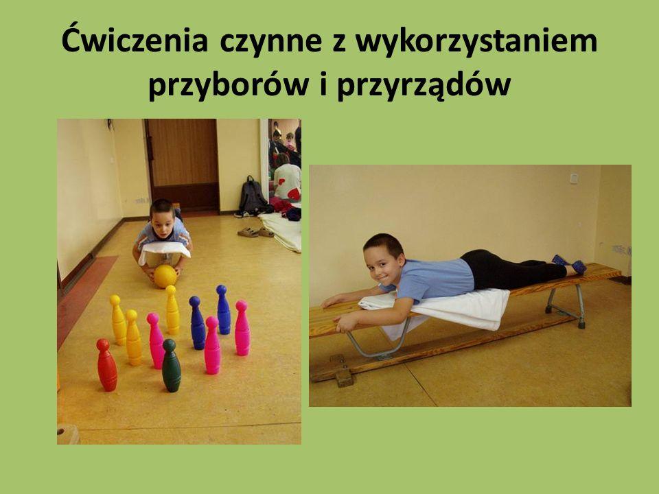 Ćwiczenia czynne z wykorzystaniem przyborów i przyrządów