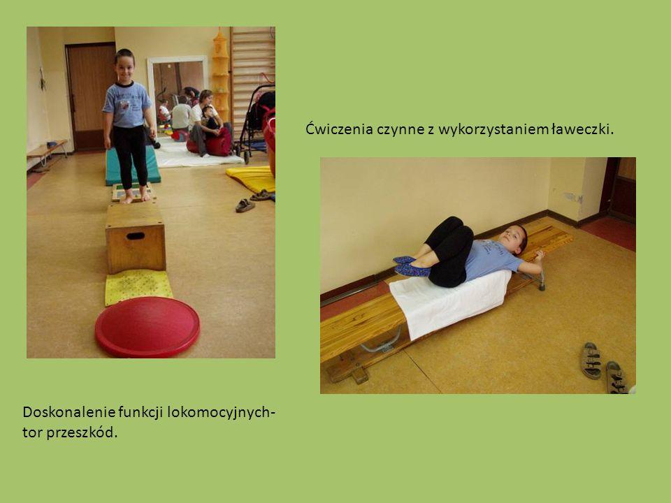 Ćwiczenia czynne z wykorzystaniem ławeczki.