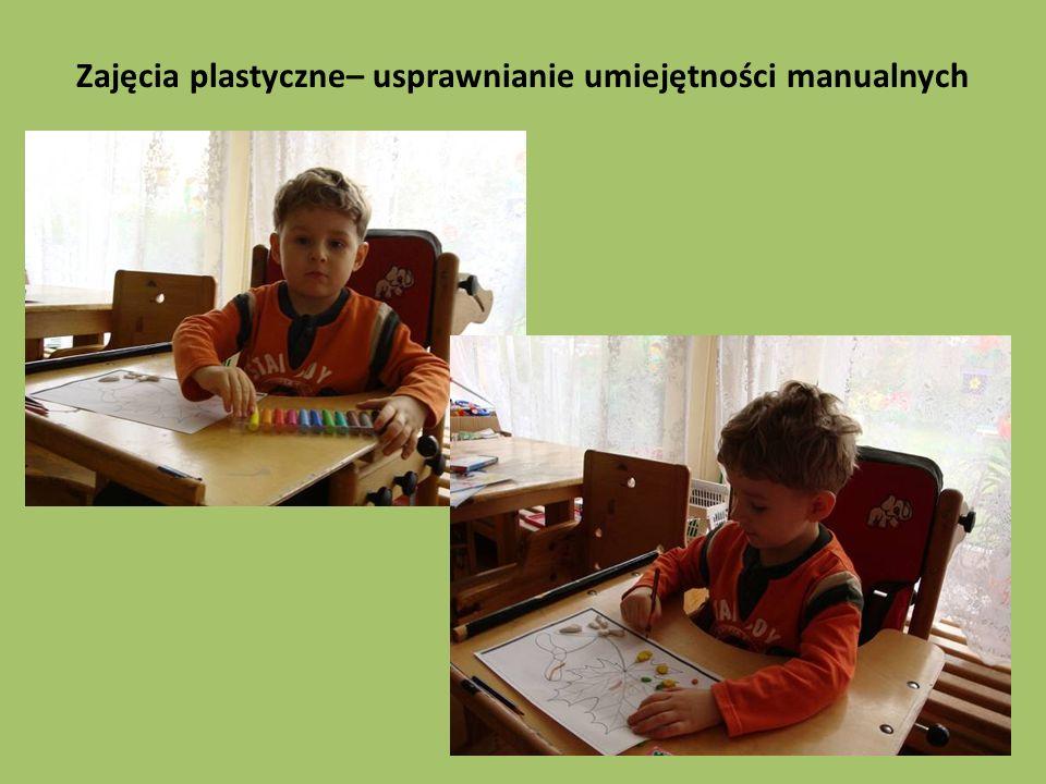 Zajęcia plastyczne– usprawnianie umiejętności manualnych