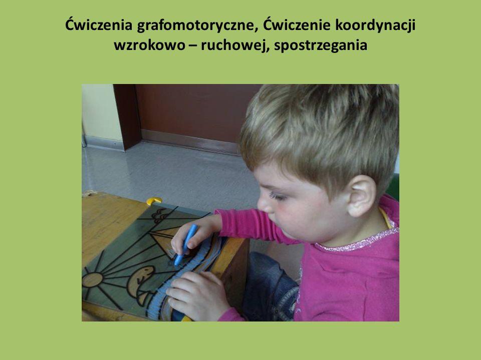Ćwiczenia grafomotoryczne, Ćwiczenie koordynacji wzrokowo – ruchowej, spostrzegania