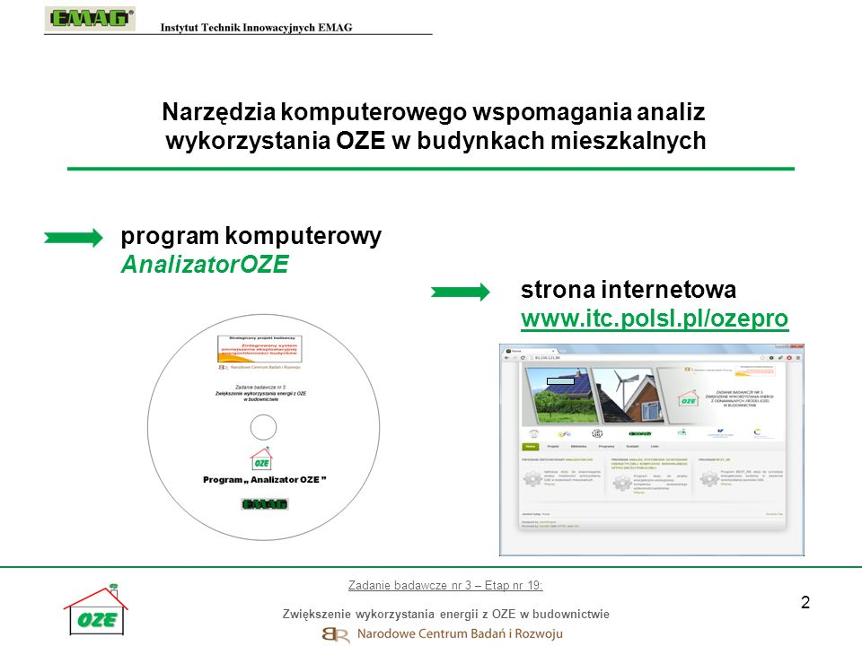 program komputerowy AnalizatorOZE