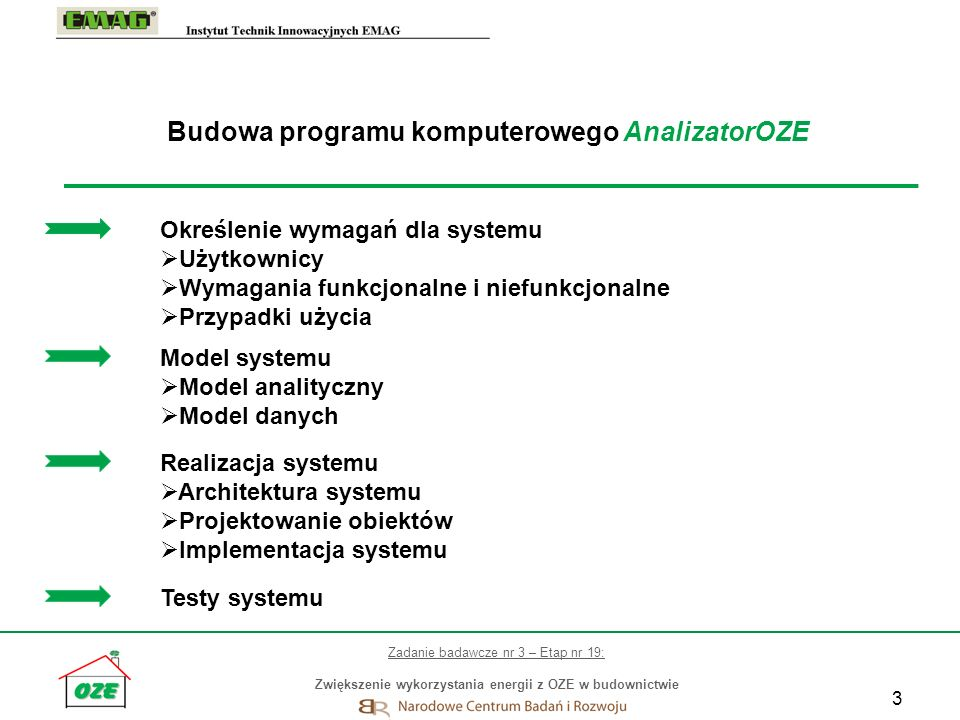 Budowa programu komputerowego AnalizatorOZE
