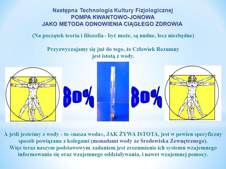 80% Następna Technologia Kultury Fizjologicznej POMPA KWANTOWO-JONOWA