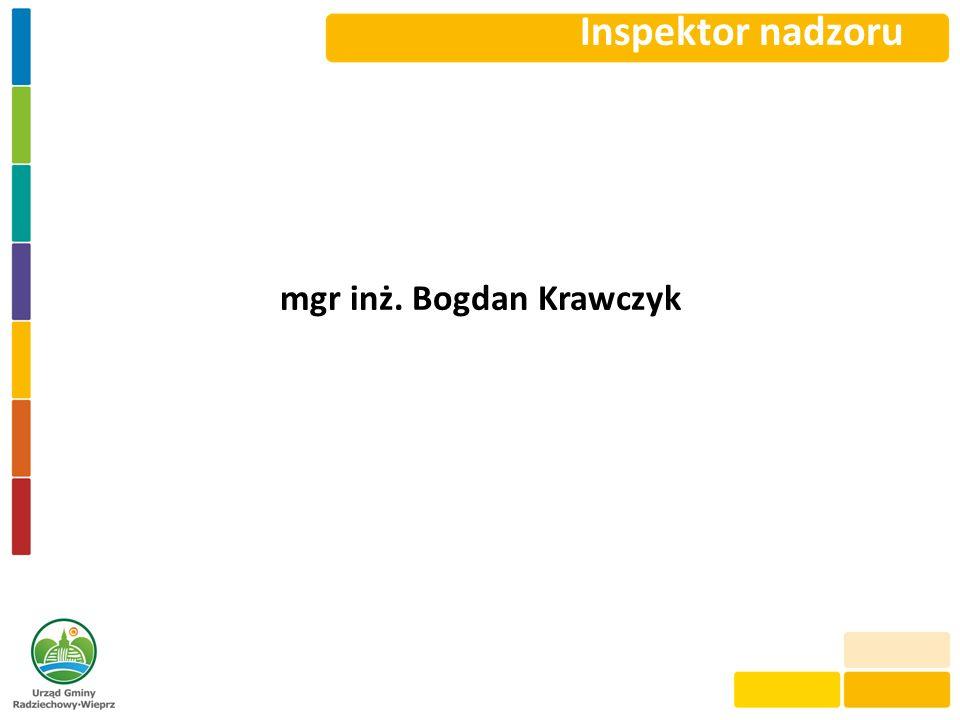 mgr inż. Bogdan Krawczyk