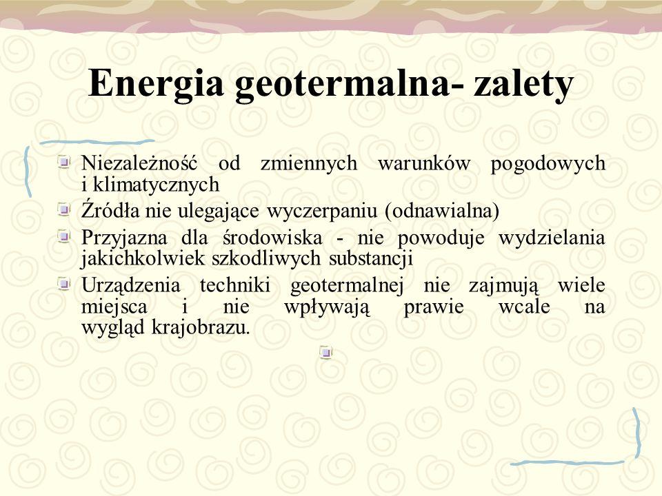 Energia geotermalna- zalety