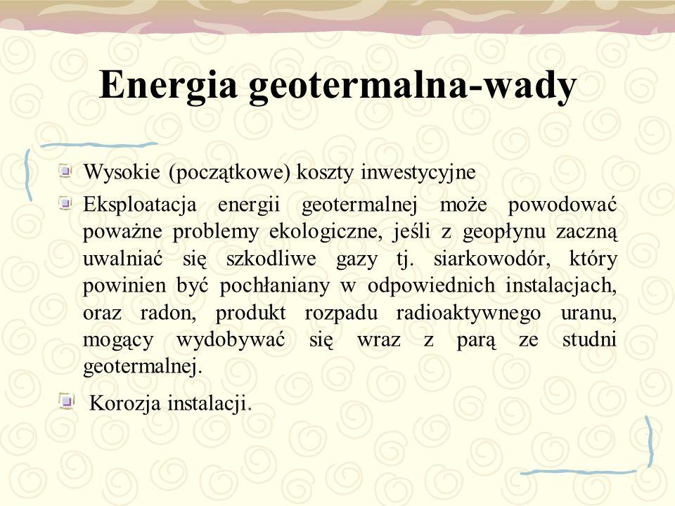 Energia geotermalna-wady