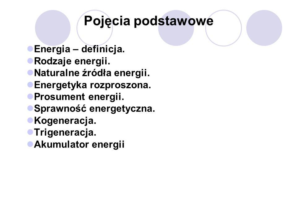Pojęcia podstawowe Energia – definicja. Rodzaje energii.