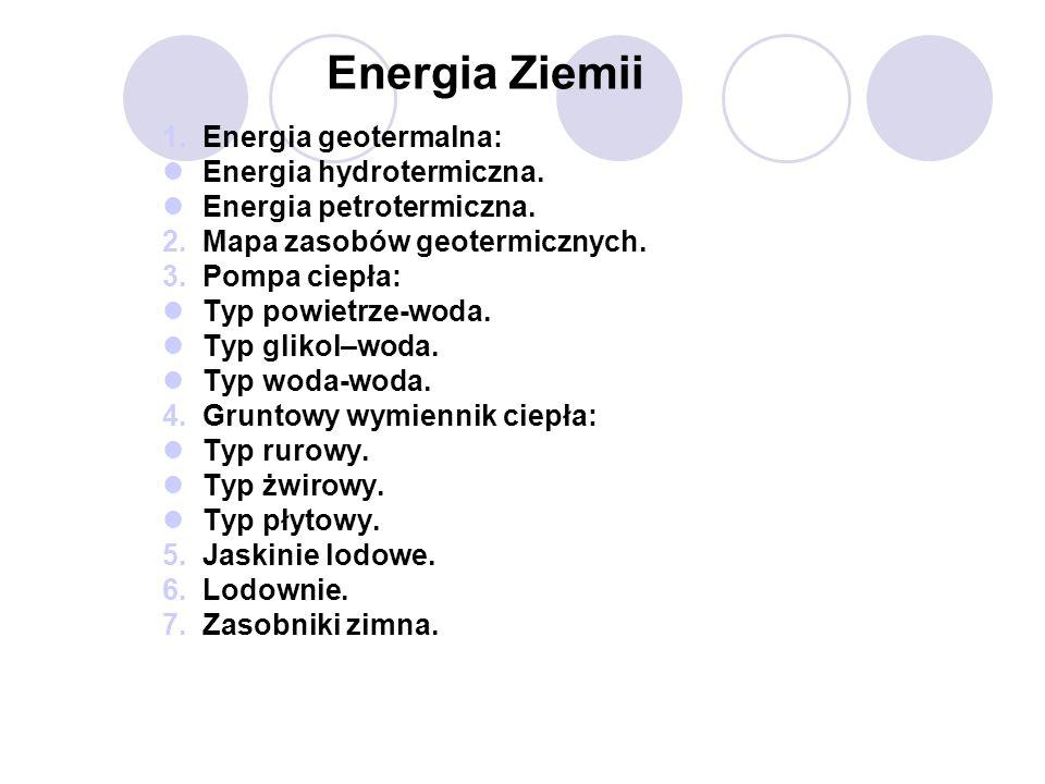 Energia Ziemii Energia geotermalna: Energia hydrotermiczna.