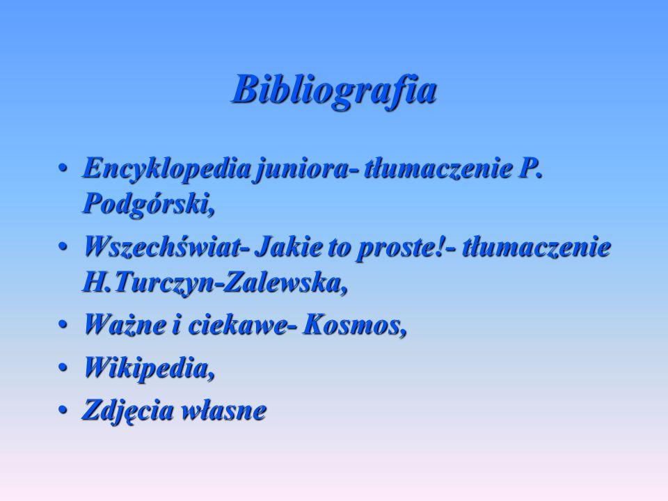 Bibliografia Encyklopedia juniora- tłumaczenie P. Podgórski,