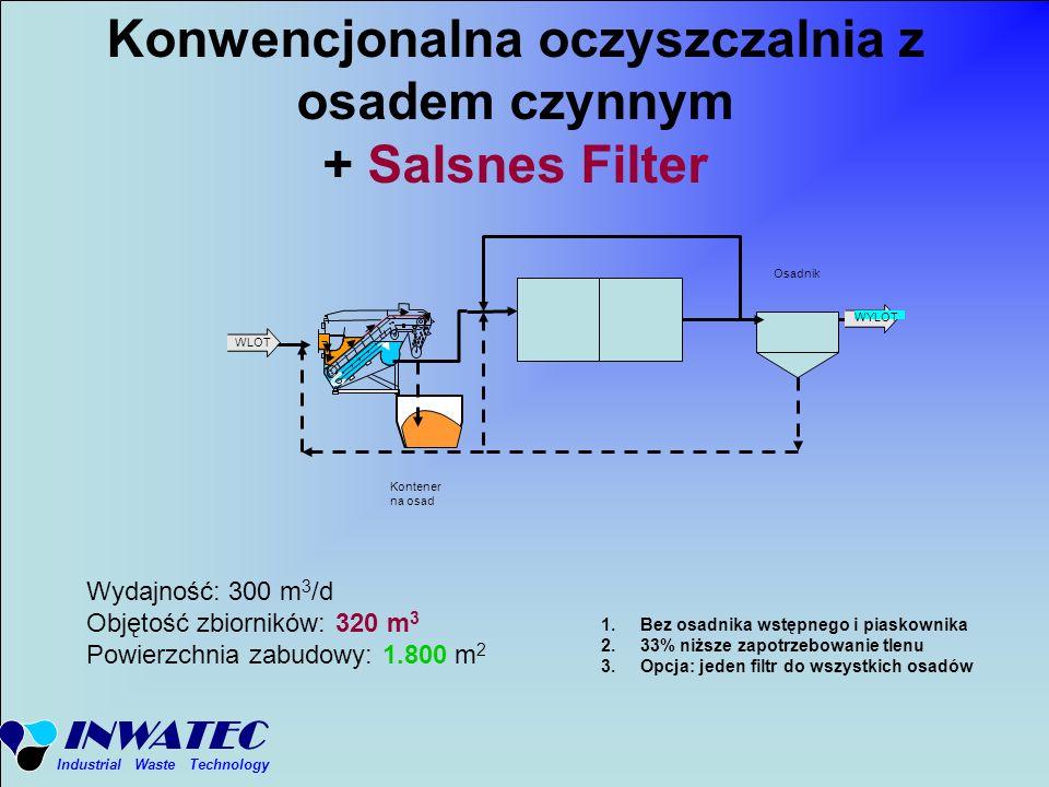 Konwencjonalna oczyszczalnia z osadem czynnym + Salsnes Filter