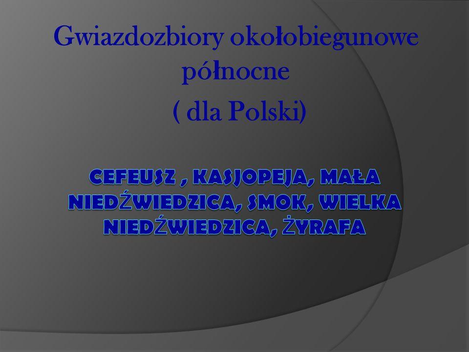 Gwiazdozbiory okołobiegunowe północne ( dla Polski)