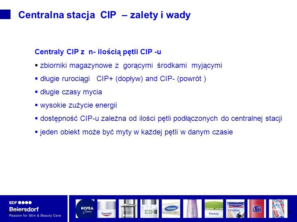 Centralna stacja CIP – zalety i wady