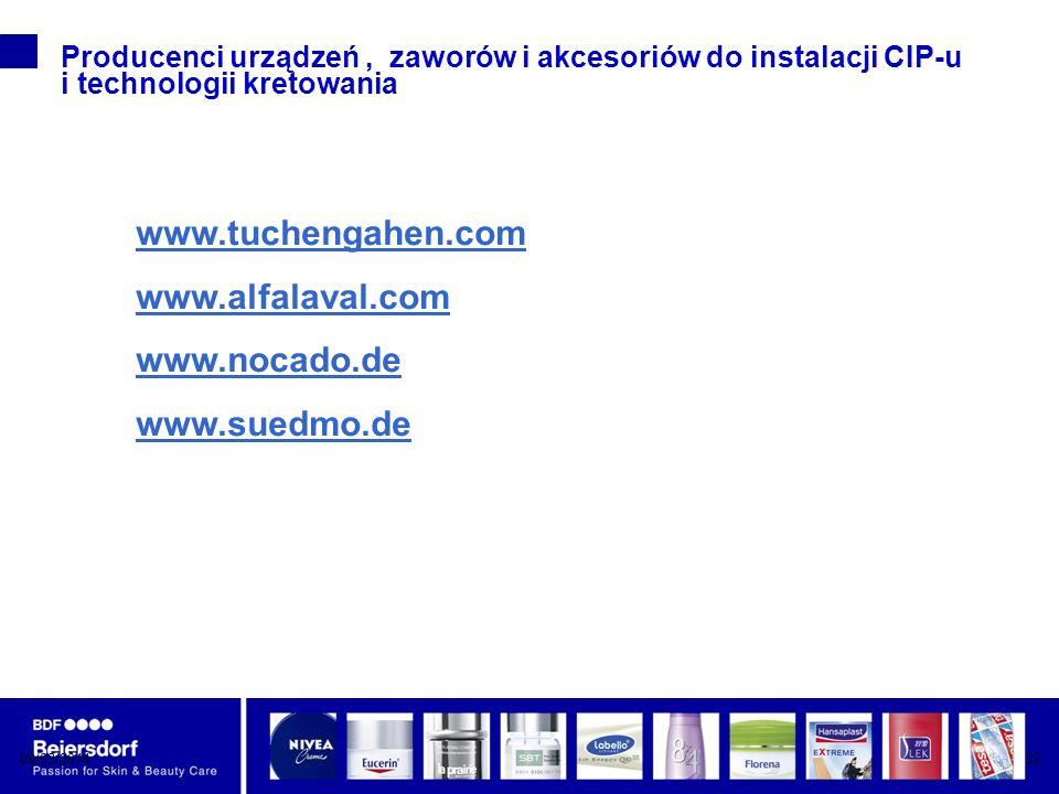 www.tuchengahen.com www.alfalaval.com www.nocado.de www.suedmo.de