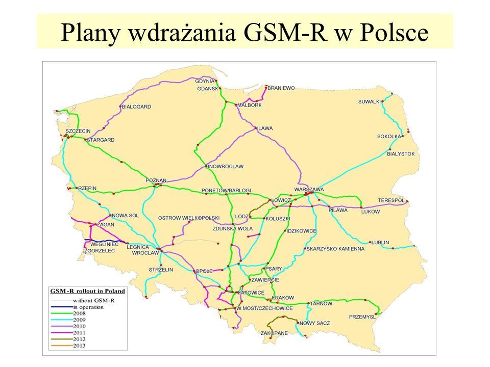 Plany wdrażania GSM-R w Polsce