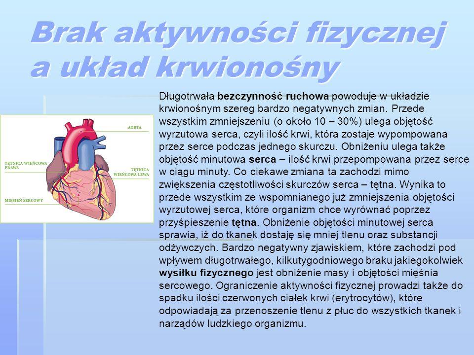 Brak aktywności fizycznej a układ krwionośny