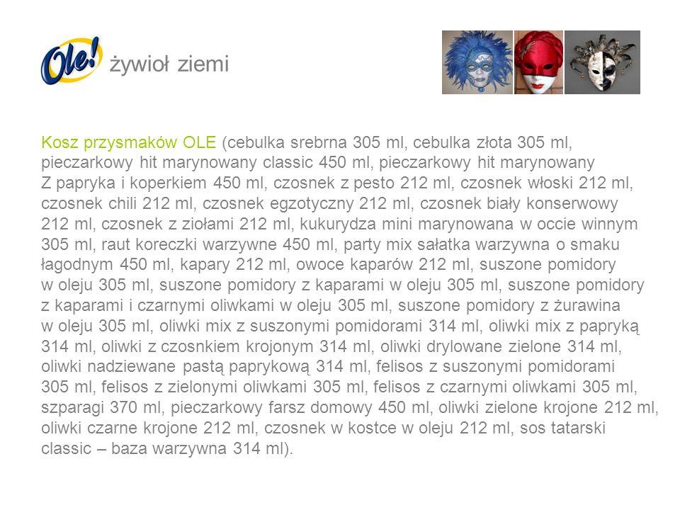 żywioł ziemi Kosz przysmaków OLE (cebulka srebrna 305 ml, cebulka złota 305 ml,