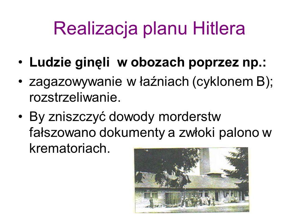 Realizacja planu Hitlera