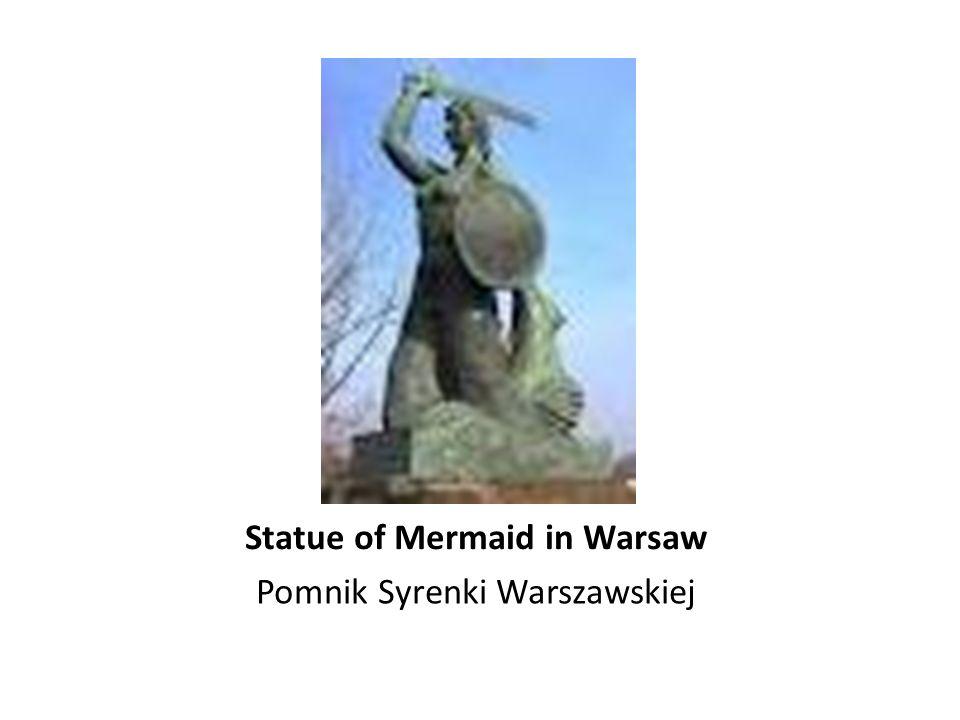 Statue of Mermaid in Warsaw