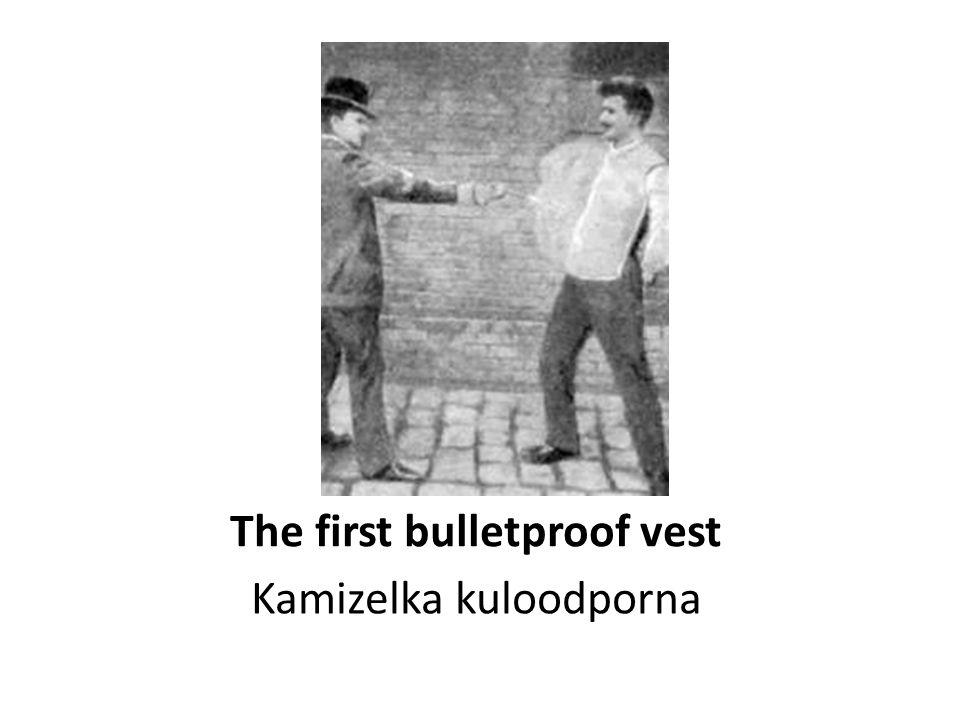 The first bulletproof vest