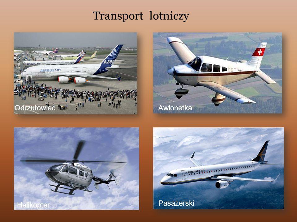Transport lotniczy Odrzutowiec Awionetka Helikopter Pasażerski