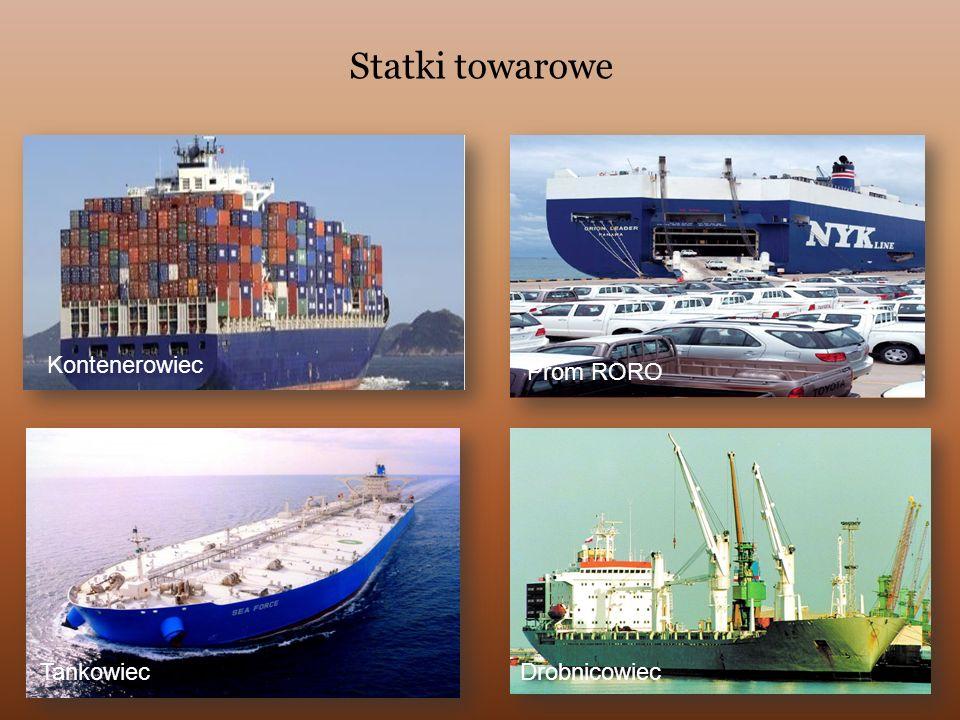 Statki towarowe Kontenerowiec Prom RORO Tankowiec Drobnicowiec